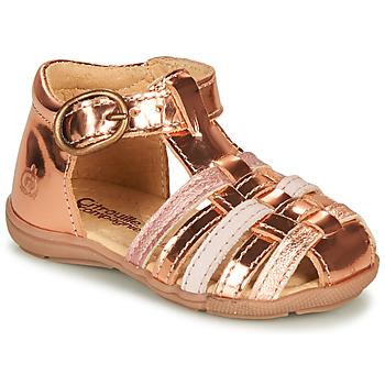 Zapatos Niña Sandalias Citrouille et Compagnie RINE Rosa / Metalizado