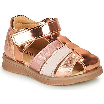Zapatos Niña Sandalias Citrouille et Compagnie FRINOUI Bronce / Rosa