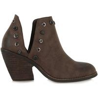 Zapatos Mujer Low boots Exé Shoes BOTÍN APERTURA CON REMACHES WEST-530 Color Marrón