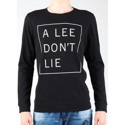 textil Hombre Camisetas manga larga Lee Don`t Lie Tee LS L65VEQ01 negro, blanco