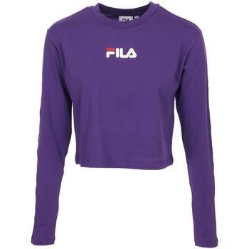 textil Mujer Camisetas manga corta Fila Reva Cropped T-Shirt Violeta