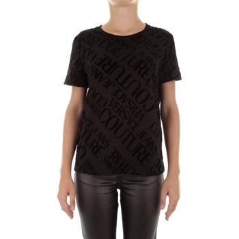 textil Mujer Camisetas manga corta Versace Jeans Couture B2HUB728 negro