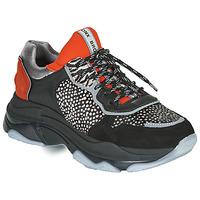 Zapatos Mujer Zapatillas bajas Bronx BAISLEY Negro / Naranja