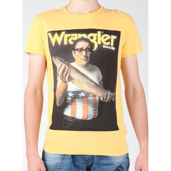 textil Hombre Camisetas manga corta Wrangler T-shirt  S/S Graphic T W7931EFNG amarillo