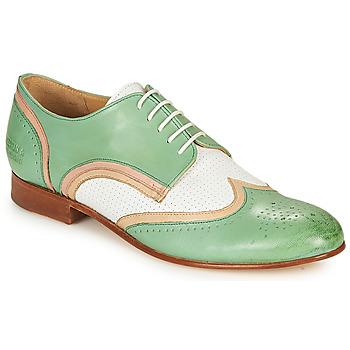 Zapatos Mujer Derbie Melvin & Hamilton SALLY 15 Verde / Blanco / Beige