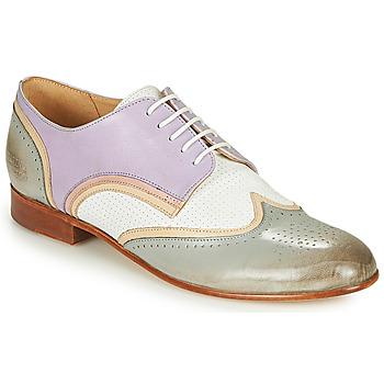 Zapatos Mujer Derbie Melvin & Hamilton SALLY 15 Azul / Blanco / Beige