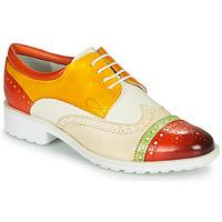 Zapatos Mujer Derbie Melvin & Hamilton AMELIE 85 Blanco / Amarillo / Marrón