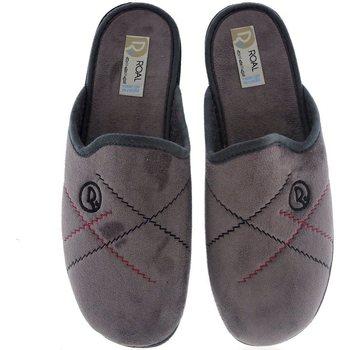 Zapatos Hombre Pantuflas Roal Zapatillas De Casa  859 Gris Gris