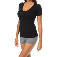 Ropa interior Mujer Camiseta interior Janira Camiseta Manga Corta Negro