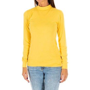 textil Mujer Camisetas manga larga Kisses And Love Camiseta m/larga Kisses&Love Amarillo
