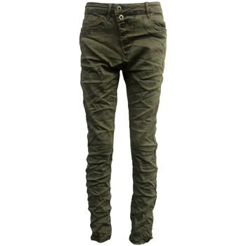 textil Mujer Vaqueros slim By La Vitrine Jeans kaki B3021-VB Verde