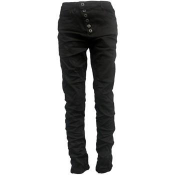 textil Mujer Vaqueros slim By La Vitrine Jeans noir B3021-H Negro