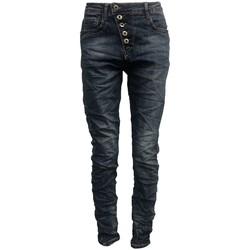 textil Mujer Vaqueros slim By La Vitrine Jeans bleu B3021-N Azul