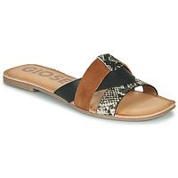 Zapatos Mujer Zuecos (Mules) Gioseppo LANTANA Negro / Cognac