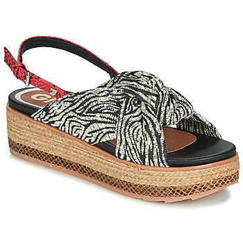 Zapatos Mujer Sandalias Gioseppo NEVELE Negro / Rojo