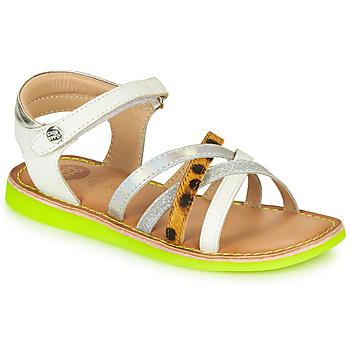 Zapatos Niña Sandalias Gioseppo STAGGIA Blanco / Amarillo
