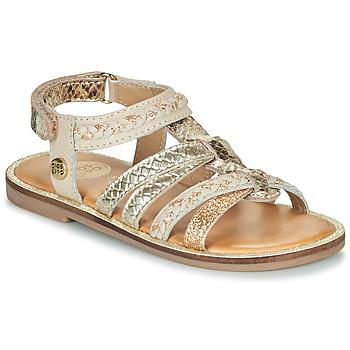 Zapatos Niña Sandalias Gioseppo PIGNOLA Beige / Oro
