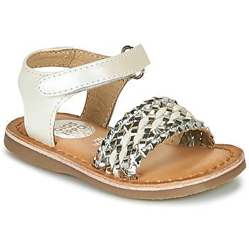 Zapatos Niña Sandalias Gioseppo VARESE Blanco / Plata