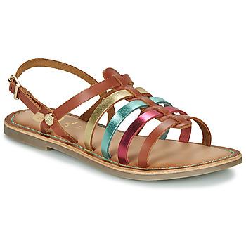 Zapatos Niña Sandalias Gioseppo ETALLE Cognac / Multicolor