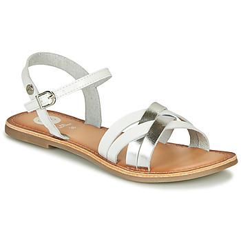 Zapatos Niña Sandalias Gioseppo GISTEL Blanco / Plata