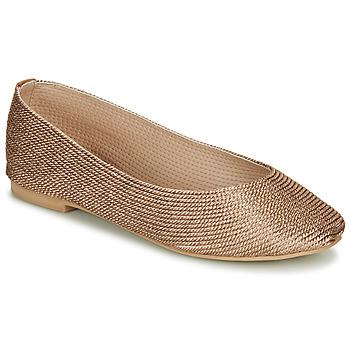 Zapatos Mujer Bailarinas-manoletinas André PAPAYA Oro