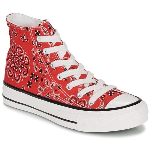 Zapatos Mujer Zapatillas altas André HEAVEN Rojo