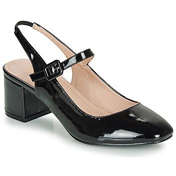 Zapatos Mujer Bailarinas-manoletinas André JONNA Negro / Barniz