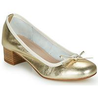Zapatos Mujer Bailarinas-manoletinas André POEME Oro
