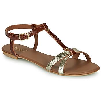 Zapatos Mujer Sandalias André RODHIE Camel