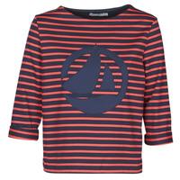 textil Mujer Tops / Blusas Petit Bateau  Rojo / Marino