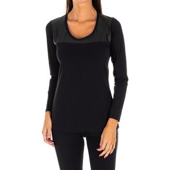 textil Mujer Tops / Blusas Rossoporpora Camiseta exterior m/larga Negro