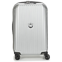 Bolsos Valise Rigide Delsey SECURITME ZIP 55 CM 4 DOUBLE WHEELS TROLLEY Plateado