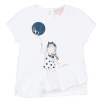 textil Niña camisetas manga corta Lili Gaufrette NALIOS Blanco