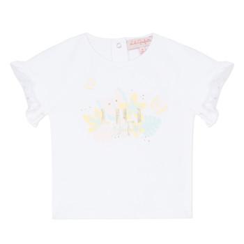 textil Niña camisetas manga corta Lili Gaufrette NALIS Blanco