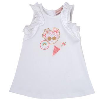 textil Niña vestidos cortos Lili Gaufrette NAVETTE Blanco
