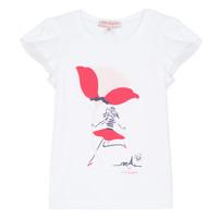 textil Niña camisetas manga corta Lili Gaufrette KATINE Blanco