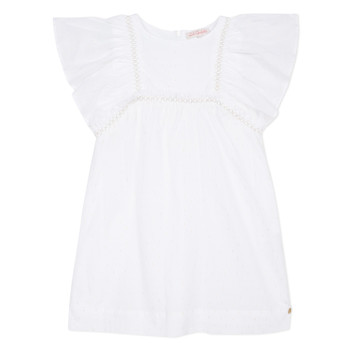 textil Niña Vestidos cortos Lili Gaufrette MELINA Blanco