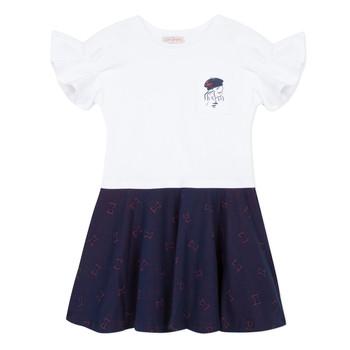 textil Niña vestidos cortos Lili Gaufrette PERRINE Blanco