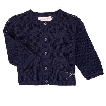 textil Niña Chaquetas de punto Lili Gaufrette CETELIA Marino