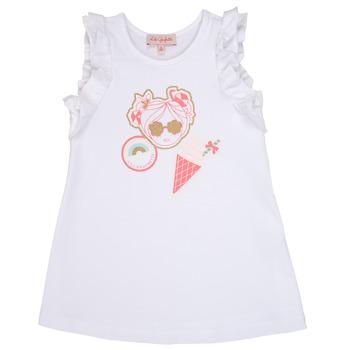 textil Niña vestidos cortos Lili Gaufrette SAMI Blanco