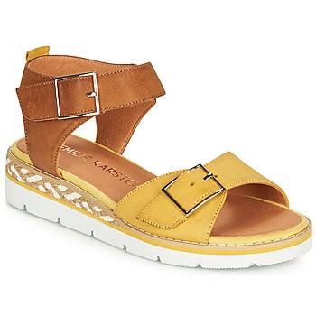 Zapatos Mujer Sandalias Karston KICHOU Amarillo / Marrón