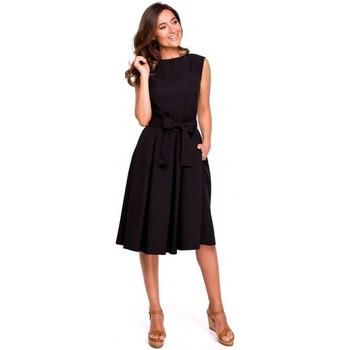 textil Mujer Vestidos Style S161 Vestido plisado con espalda envolvente - negro