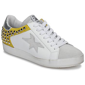 Zapatos Mujer Zapatillas bajas Meline GELLABELLE Blanco / Mostaza