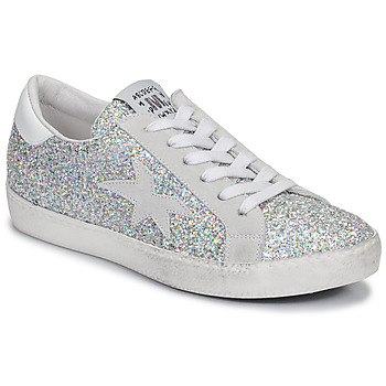 Zapatos Mujer Zapatillas bajas Meline GARAMINE Blanco / Plateado