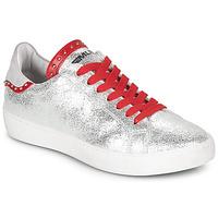 Zapatos Mujer Zapatillas bajas Meline GARILOU Plata / Rojo
