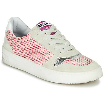 Zapatos Mujer Zapatillas bajas Meline GUILI Beige / Rojo