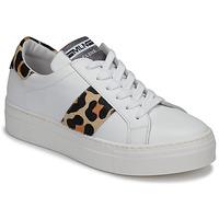 Zapatos Mujer Zapatillas bajas Meline GETSET Blanco / Leopardo