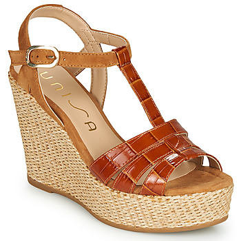 Zapatos Mujer Sandalias Unisa MACA Camel