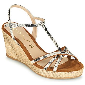 Zapatos Mujer Sandalias Unisa LLINAR Serpiente