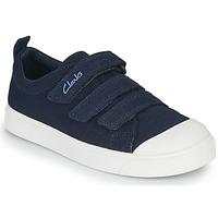 Zapatos Niños Zapatillas bajas Clarks CITY VIBE K Marino